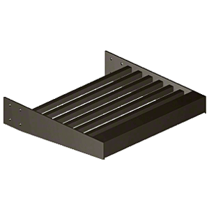 "Dark Bronze 2-3/8"" Square Tube Sunshade Blades - Custom Length"