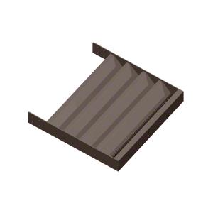 """Dark Bronze 3"""" Z-Blade Extrusion - Custom Length"""