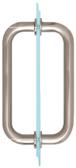 "CRL BM8X8BN Brushed Nickel 8"" BM Series Tubular Back-to-Back Pull Handle"