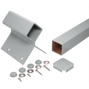 """Agate Gray 42"""" 200, 300, 350, and 400 Series 90 Degree Fascia Mounted Post Kit"""