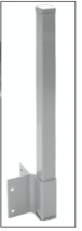 "CRL FP942KAGY Agate Gray 42"" 200, 300, 350, and 400 Series 90 Degree Fascia Mounted Post Kit"