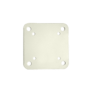 """Oyster White 6-1/2"""" x 6-1/2"""" Square Base Plate"""