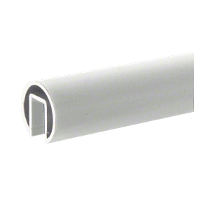 "CRL GR19SA Satin Anodized 1.9"" Extruded Aluminum Cap Rail for 1/2"" or 5/8"" Glass - 240"""