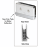 CRL PPH080RB Oil Rubbed Bronze Prima Hinge with Rear Drip Plate
