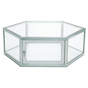 CRL D4060A Satin Anodized Custom Size Hexagon Showcase