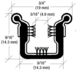 """CRL Y630P96 Beaded Flexible Universal Narrow Channel for Various 1948-1962 Model Cars - 96"""" Length"""