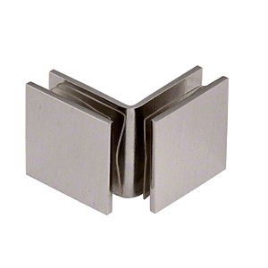 CRL SGC0F90BN Brushed Nickel Open Face 90 Degree Square Glass Clamp