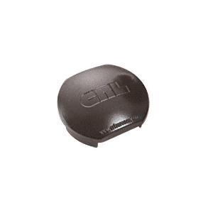 CRL PC1RBRZ Matte Bronze Aluminum Windscreen System Round Post Cap for 180 Degree Center or End Posts