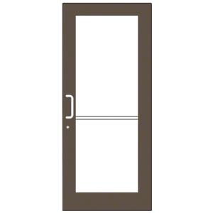 Bronze Black Anodized Custom Single Series 550 Wide Stile Geared Hinge Entrance Door for Overhead Concealed Door Closer