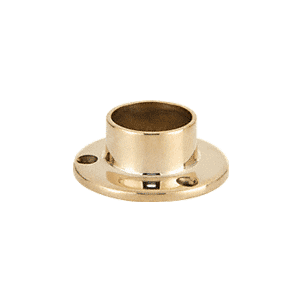 "CRL HR15YPB Polished Brass Full Flange for 1-1/2"" Tubing"