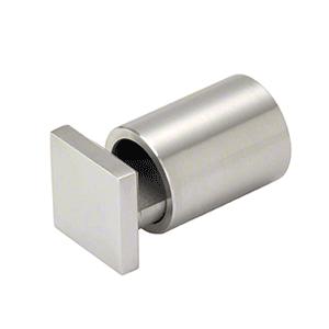 "CRL SAEG1BS Brushed Stainless 1"" Square Cap Adjustable Edge Grip"