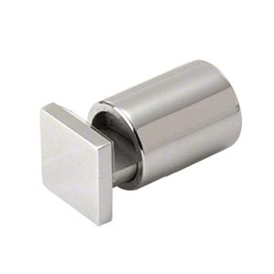 "CRL SAEG1PS Polished Stainless 1"" Square Cap Adjustable Edge Grip"