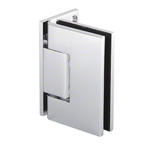 CRL MEL044CH Polished Chrome Wall Mount with Offset Plate Melbourne Hinge