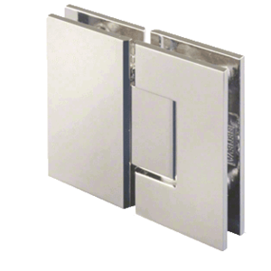 CRL GEN180PN Polished Nickel Geneva 180 Series 180 Degree Glass-to-Glass Standard Hinge