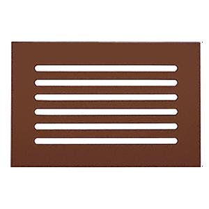 "CRL FMG1280BRZ Bronze Flat Acrylic 12"" x 8"" Mirror Grille"
