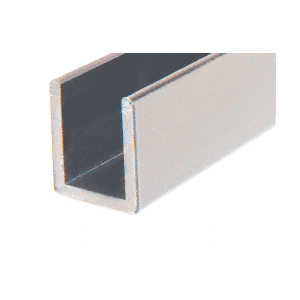 "CRL SDCD3812BN Brushed Nickel Frameless Shower Door Aluminum Deep U-Channel for 3/8"" Thick Glass - 144"""