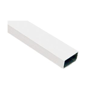 """CRL WSSB58W White 5/8"""" x 5/16"""" Roll Formed Aluminum Spreader Bar 146"""" Stock Length"""