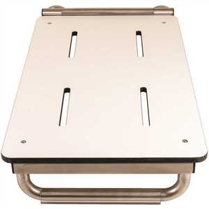 WINGIT INNOVATIONS, LLC WBTES290150PW 29 in. x 15 in. Permanent End-Mount Bathtub Seat with Skis, White