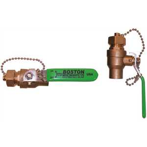 National Brand Alternative BTD0750002LF 3/4 in. NPT Inlet Drain with Male Hose Thread Outlet and T Handle, Lead Free