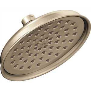 Cleveland Faucet Group 47401GRBN CFG 1-Spray 6 in. Fixed Round Rain Showerhead in Brushed Nickel