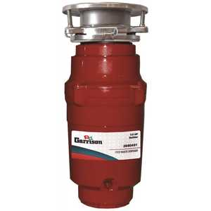 Garrison 10-US-GR91-3BNC 1/3 HP Builder Continuous Feed Garbage Disposal Without Power Cord