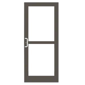 CRL-U.S. Aluminum DZ41722 Class I Bronze Black Anodized Custom Single Series 400 Medium Stile Center Pivot Entrance Door For Panic and Overhead Concealed Door Closer
