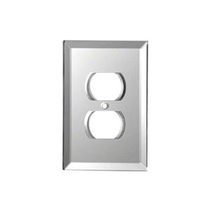 CRL GMP2G Gray Duplex Plug Glass Mirror Plate