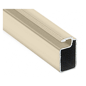 "CRL WSF347BGE Beige 3/4"" x 7/16"" Roll Formed Aluminum Screen Frame - 144"""