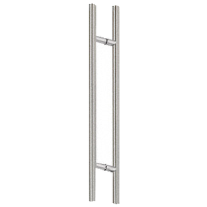 "CRL 48LPBS Brushed Stainless 48"" Extra Length Ladder Style Back-to-Back Pull"