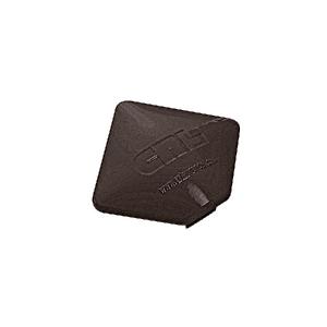 CRL PC9SBRZ Matte Bronze Square AWS Post Cap for 90 Degree Corner Post