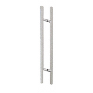 "CRL 72LPBS Brushed Stainless 72"" Extra Length Ladder Style Back-to-Back Pulls"