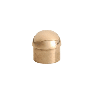 "CRL HR15DPB Polished Brass Dome End Cap for 1-1/2"" Tubing"