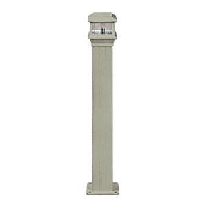 "CRL PCL1BGY Beige Gray Decorative Cap Light for 4"" x 4"" Vertical Aluminum Post"