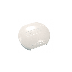 CRL PC1RW Sky White Aluminum Windscreen System Round Post Cap for 180 Degree Center or End Posts