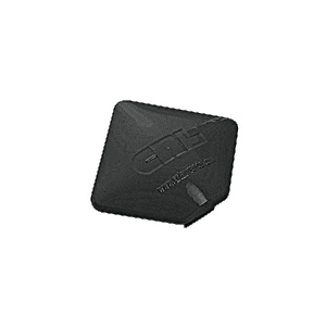 CRL PC9SBL Matte Black Square AWS Post Cap for 90 Degree Corner Post