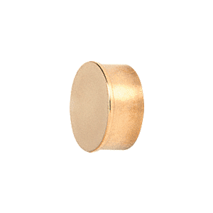 "CRL HR20FPB Polished Brass Flat End Cap for 2"" Round Tubing"