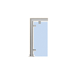 "CRL SG5206BS Brushed Stainless Contemporary 206 Series 1-1/2"" Tubing Glass On Top, Front, and One or Both Ends Sneeze Guards"