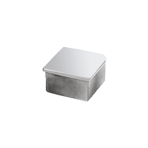 """CRL SA10PS Polished Stainless 1-1/2"""" Square Flat End Cap"""