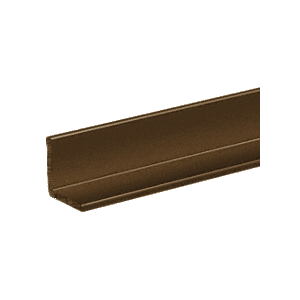 "CRL D1628BRZ Bronze Electro-Static Paint 3/4"" Aluminum Angle Extrusion 144"" Stock Length"