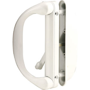 CRL C1275 White Sliding Door Handle Set for Milgard