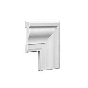 White Corner Clip for TQ356W Vinyl Window Casing