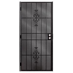 """CRL 25162212 Belvedere Black 36"""" x 80"""" Security Door"""