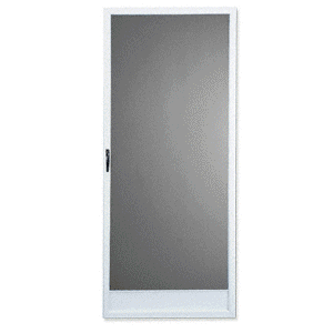 "Columbia Full View KMS White 33"" x 80"" Steel Hinged Screen Door"
