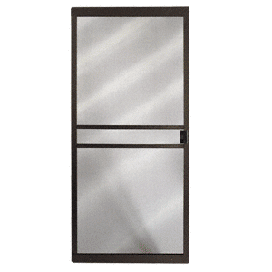 """CRL 1021091504 Columbia Bronze 48"""" x 80"""" CM Supreme Sliding Screen Door"""