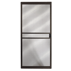 """CRL 10210915 Columbia Bronze 48"""" x 80"""" CM Supreme Sliding Screen Door - Bulk"""