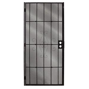 """CRL 25160210 Columbia Magnum Black 30"""" x 80"""" Security Screen Door"""