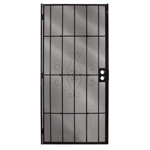 """CRL 25160211 Columbia Magnum Black 32"""" x 80"""" Security Screen Door"""