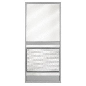 """Pioneer KBS Gray 32"""" x 80"""" Steel Hinged Screen Door"""