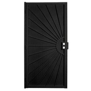"""Sunset Black 32"""" x 80"""" Security Door"""