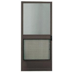 """CRL 2013108104 Steelbreeze Bronze 32"""" x 80"""" Steel Hinged Screen Door"""